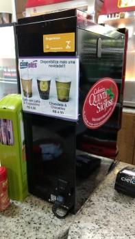 Cineplus Emacite disponibiliza máquina de café e chocolate quente
