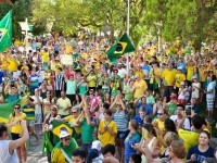 Manifestação em Mafra contra a corrupção e o governo Dilma