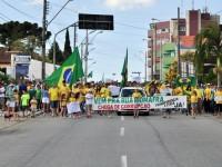 Manifestação em Rio Negro contra a corrupção e o governo Dilma