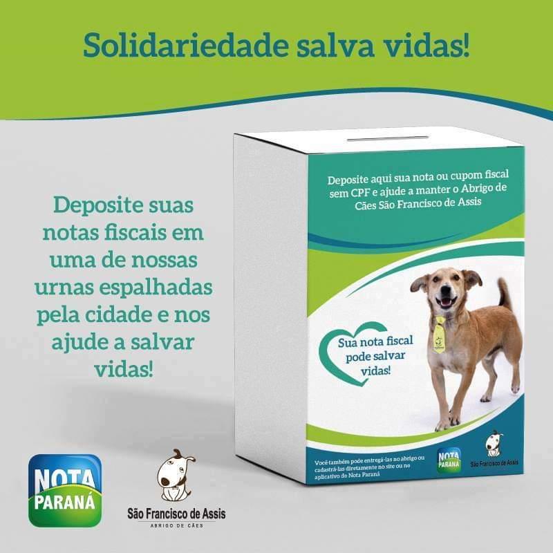 Como usar o Nota Paraná para ajudar o abrigo de cães de Rio Negro (1)