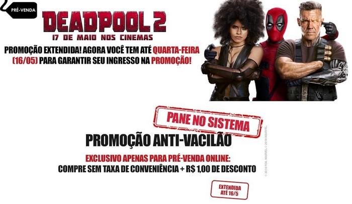 Aproveite a promoção Anti-Vacilão do Cineplus