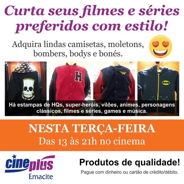 Venda de produtos oficiais de filmes, séries, personagens e muito mais no Cineplus Emacite