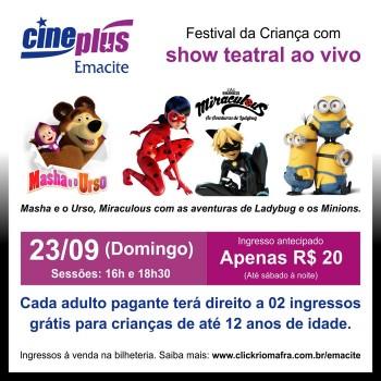 Festival da Criança no Cineplus Emacite
