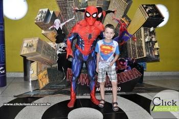 Fotos com o Homem-Aranha visita no Cineplus Emacite Dia 02 (8)
