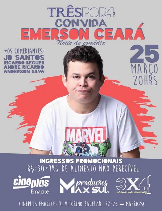 Noite de comédia com Emerson Ceará