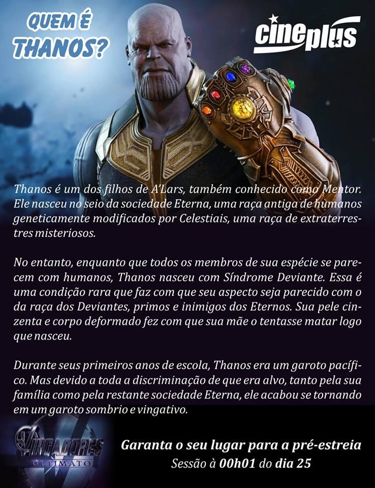 Saiba quem é Thanos, o vilão do filme Vingadores Ultimato