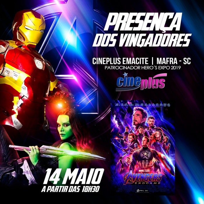 Cosplayers do Homem de Ferro e Gamora estarão no Cineplus Mafra (1)