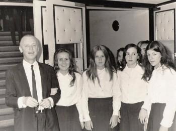 Formatura do Ginásio do Colégio Barão de Antonina de Mafra em 1971
