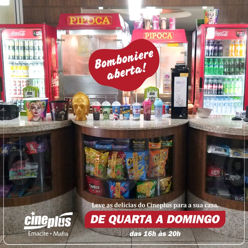 Cineplus Emacite está aberto para a venda de alimentos