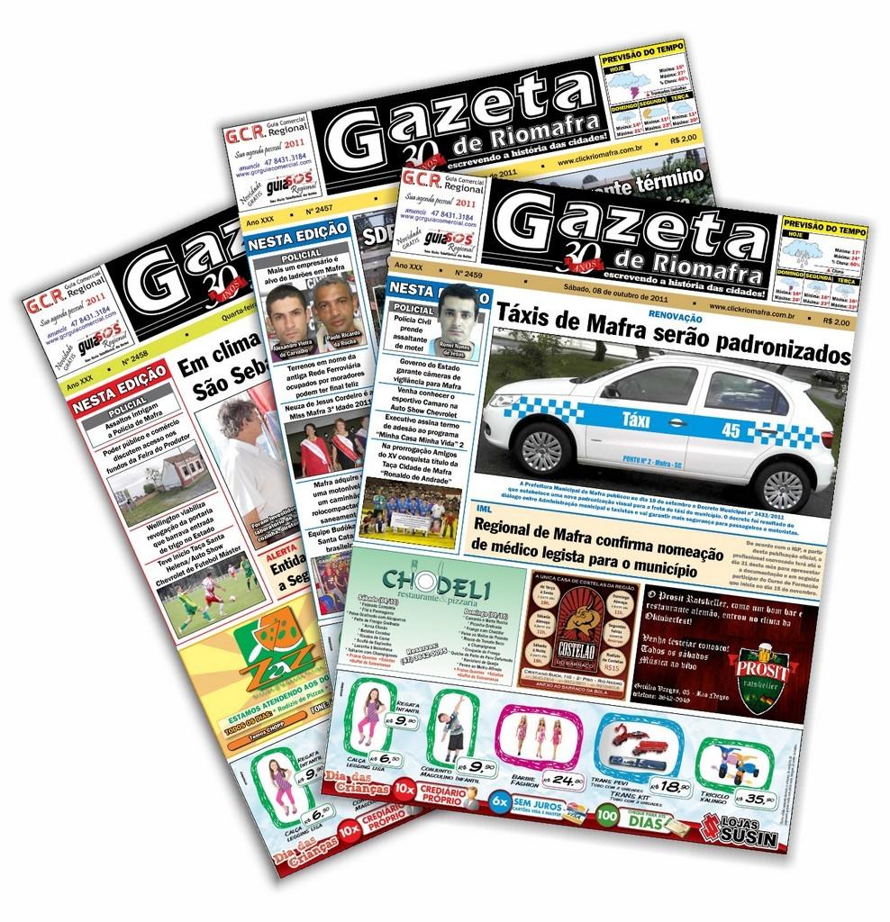 Assine a Gazeta de Riomafra