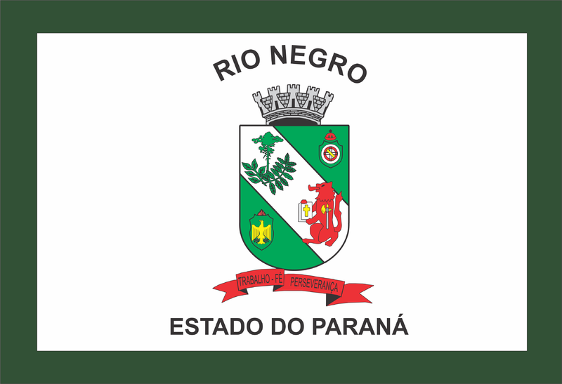 Bandeira da cidade de Rio Negro