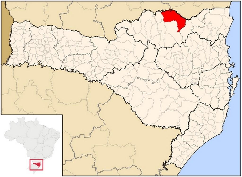 Localização da cidade de Mafra e principais distâncias