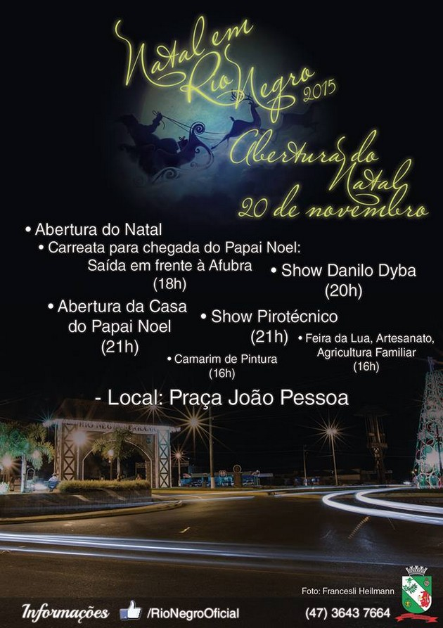 Natal em Rio Negro 2015