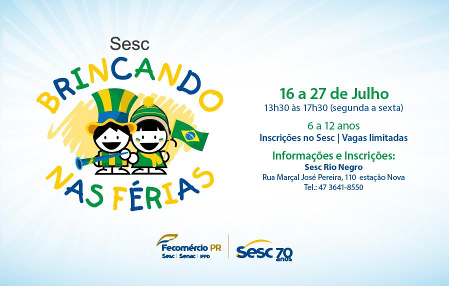 5009560d26 As férias escolares estão chegando e o Sesc Rio Negro preparou sua primeira  colônia de férias para crianças de 6 a 12 anos se divertirem.